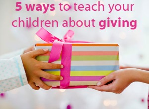 Teach kids about giving