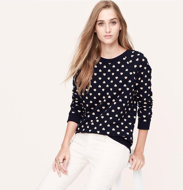 Heart Print Sweatshirt | Fall Fashion Essentials