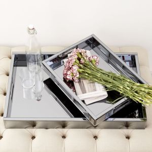 My Favorite Things - Blue Mirrored Trays