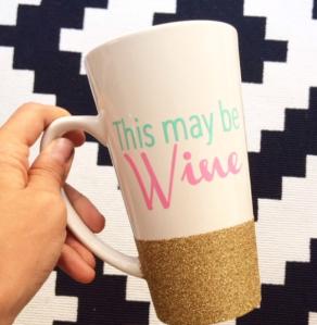 My Favorite Things - Glitter Dipped Mug