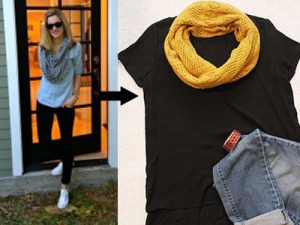 Tee and scarf