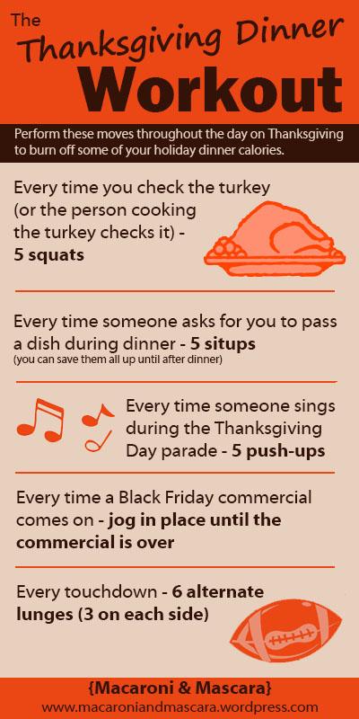 Thanksgiving Dinner Workout