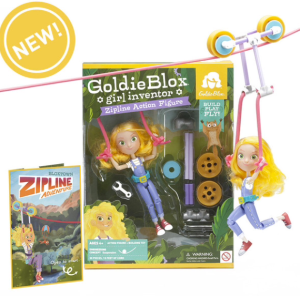 Goldie Blox Zip Line Action Figure | Gifts for Kids