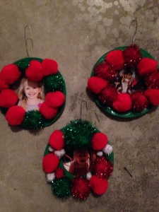 Pom Pom Wreath Ornaments