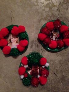 Pom Pom Wreath Ornaments